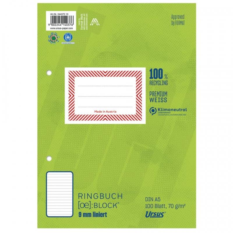 Format-X (Ursus) Ringbuchblock A5