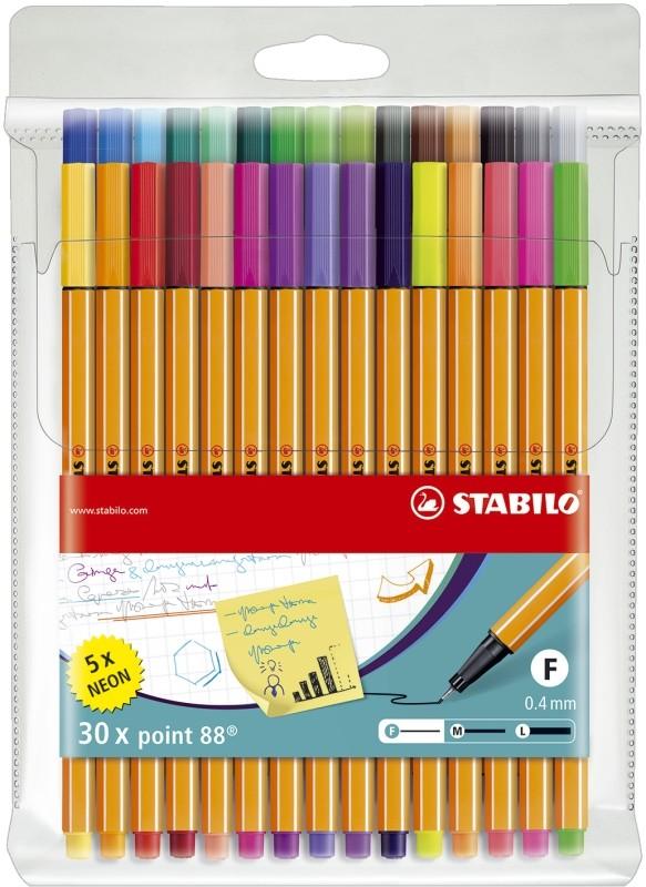 Fineliner Stabilo Point 88 30er Set 0,4