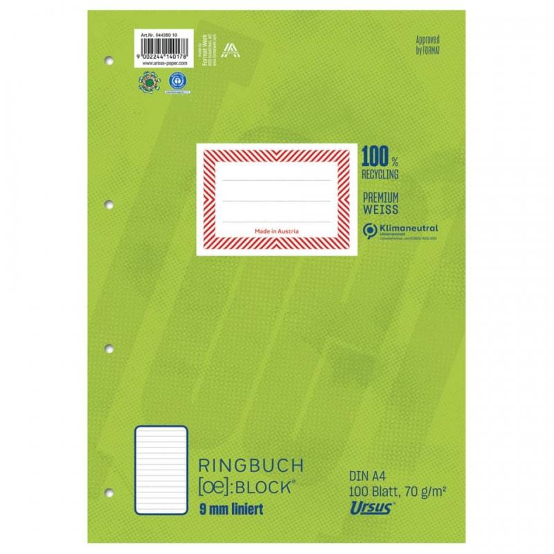 Format-X (Ursus) Ringbuchblock A4