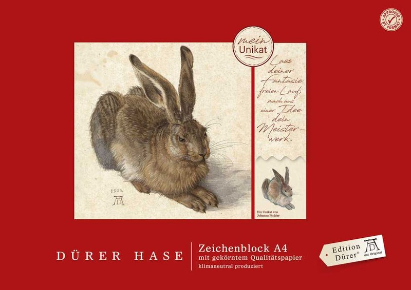 Zeichenblock Dürer Hase A4