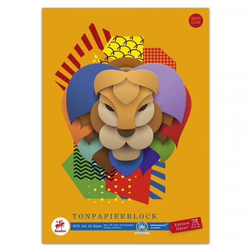 Tonpapierblock 10 Blatt A4