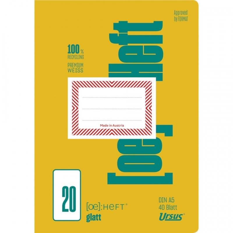 Schulheft A5 40 Blatt