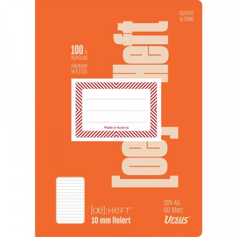Schulheft A5 60 Blatt