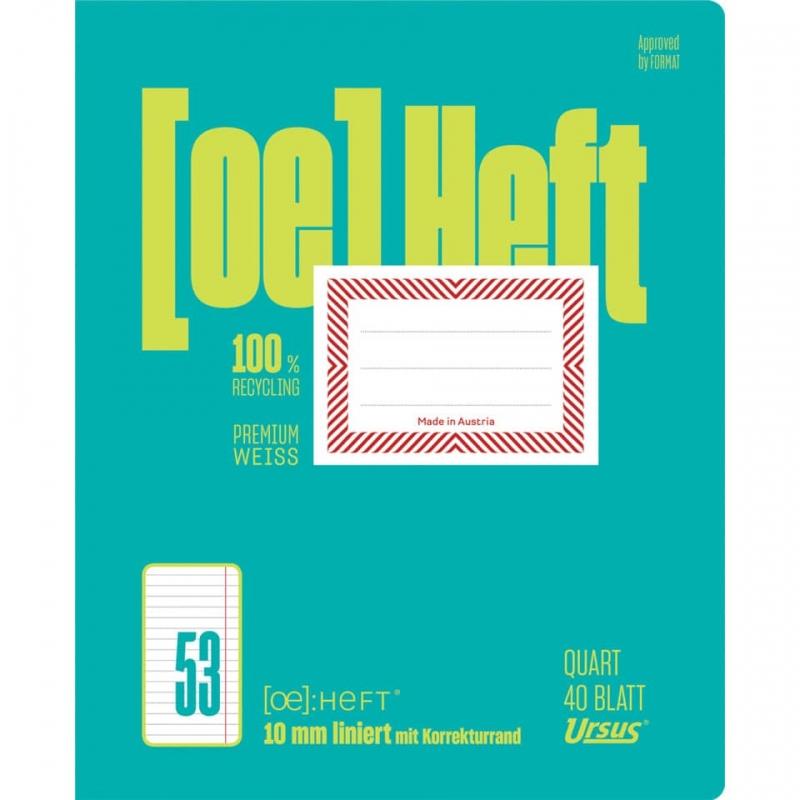 Schulheft Quart 40 Blatt