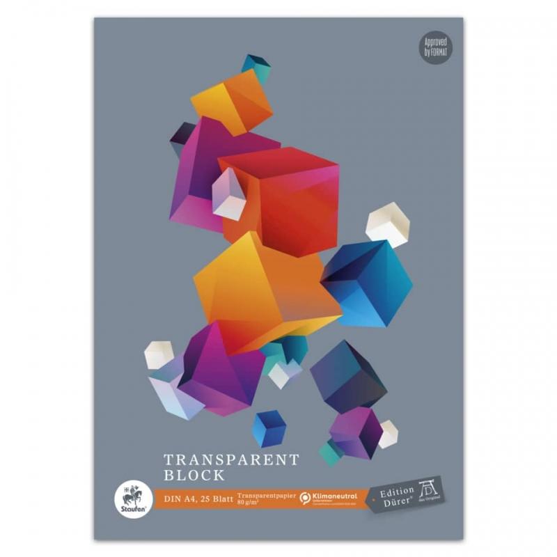 Transparentpapierblock A4/A3 25 Blatt