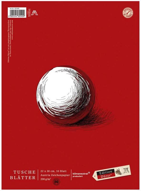 Tuscheblatt 10 Blatt 22x30cm