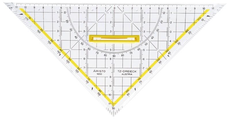 Aristo TZ-Dreieck 25cm mit Griff