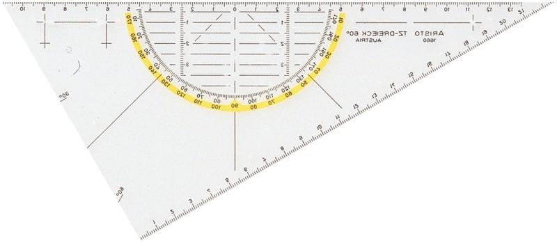 Aristo TZ-Dreieck 22 x 5cm 1660/1-60 ohne Griff