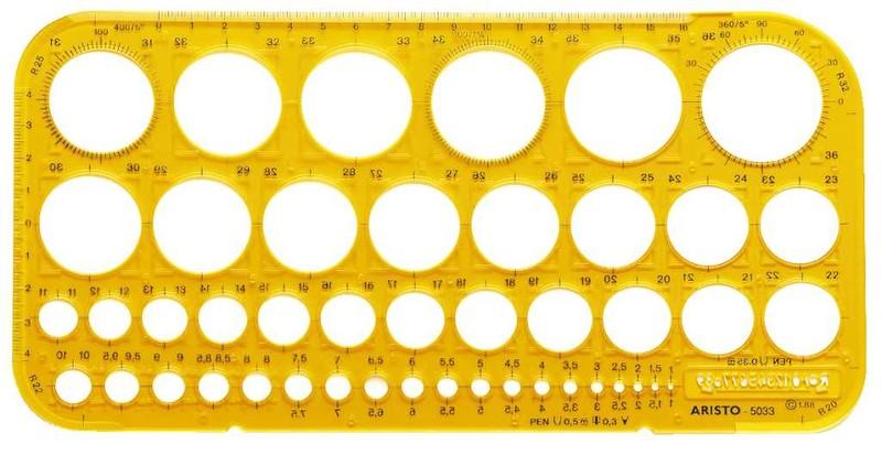 Aristo Kreisschablone 45 Kreise