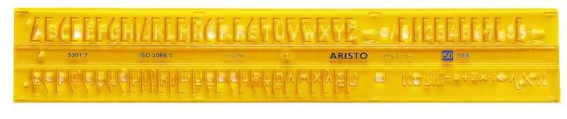Aristo Schriftschablone gerade 7 mm