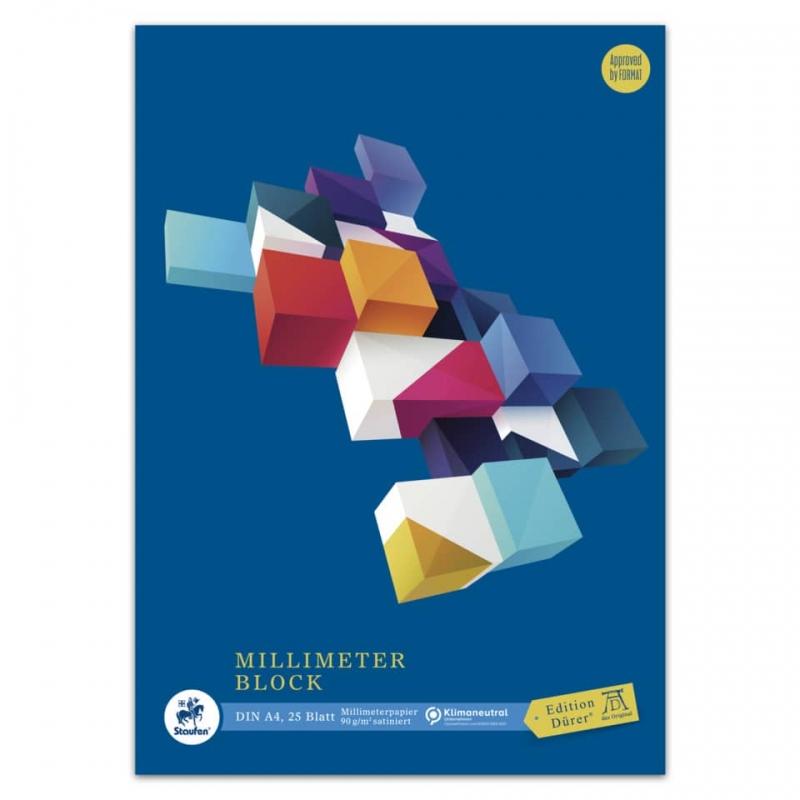 Millimeterpapierblock A4 25 Blatt