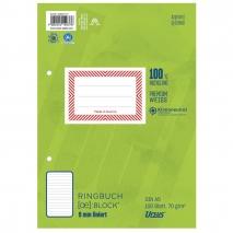 Ursus Ringbuchblock A5 100 Blatt