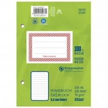 Ringbuchblock A6 100 Blatt