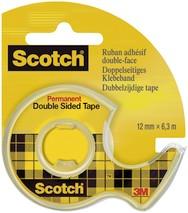 Doppelklebeband Scotch 12mm 6,3m mit Abroller