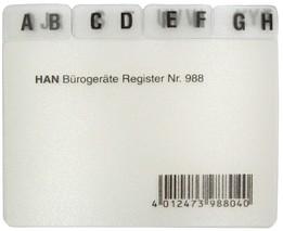 Leitregister A8 quer A-Z transluzent