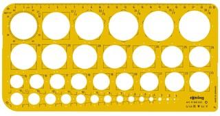 Kreisschablone 36 Kreise