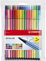 Faserstift Stabilo Pen 68 24+6 Neonfarben
