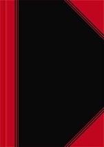 Geschäftsbuch A5 schwarz/rot