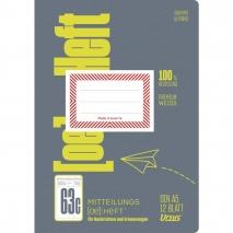 Mitteilungsheft A5 12 Blatt FX 63c