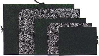 Zeichenmappe mit Bändern marmoriert grün