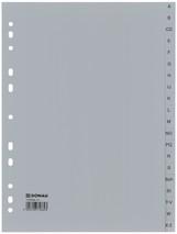 Ordnerregister 20-tlg A-Z grau