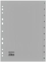 Ordnerregister PP 1-10 grau