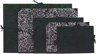 Zeichenmappe mit Bändern A3 marmoriert grün