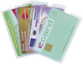 Kreditkartenetui glasklar
