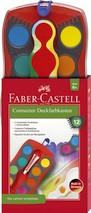Faber Castell Wasserfarben 12 Farben inkl. Deckweiss